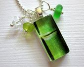 Bamboo Sea Glass Pendant