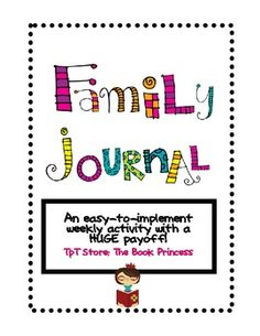 This easy-to-implement weekly activity serves many purposes: practice writing, keeping parents informed, etc.  Kids and families LOVE it! $3