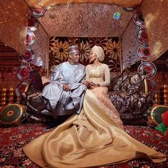 It's been over a month after the famous wedding of Zahra Buhari and Ahmed Indimi. Zahra and Ahmed Indimi came together as man and wife on December 16 The… Traditional Wedding Decor, Man And Wife, Turban, More Photos, Luxury Wedding, African Fashion, Beautiful Places, Wedding Decorations, Makeup