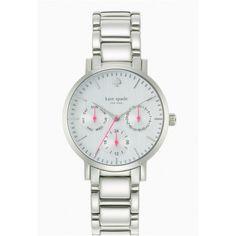 Women's kate spade new york 'gramercy' multifunction bracelet watch, 34mm Silver One Size
