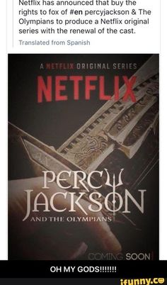 Is this for real? Because I don't know if any adaption can live up to the majestic sass that is the Percy Jackson book series. Percy Jackson Fan Art, Percy Jackson Memes, Percy Jackson Books, Percy Jackson Fandom, Percabeth, Solangelo, Leo Valdez, The Jacksons, Rick Riordan Books