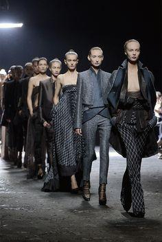 Models walk for Haider Ackermann...