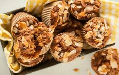 Lightened-Up Whole Grain Morning Glory Muffins - Recipe from Whole Foods. No sugar, no oil.