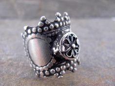 Antique Yemeni Jewish Silver Ring.