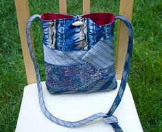 I like this lady's blog! Neckties!!!  lots of bags from repurposed things