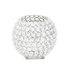 Add Glitz to your tables with these Crystal Globe Candle Holder Centerpieces - Affordable Elegance Bridal -
