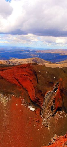 Red Crater In Tongariro National Park,Central North Island, New Zealand www.facebook.com/loveswish