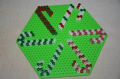 Candy Canes - Christmas Perler Ornaments by Karin