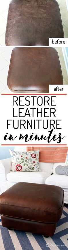 Learn How to Restore Leather Furniture WOW! I had no idea how to restore leather furniture but this makes it look so easy. I can't wait to try it on my couch! The post Learn How to Restore Leather Furniture appeared first on Upholstery Ideas. House Cleaning Tips, Diy Cleaning Products, Spring Cleaning, Cleaning Hacks, Household Products, Cleaning Solutions, Cleaning Supplies, Furniture Repair, Furniture Projects