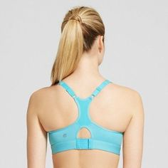 Women's High Support Racerback Sports Bra - C9 Champion - Turquoise Waters 38DD