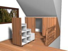 porte coulissante à tiroirs pour pente de toit