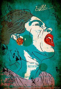 Billie Holliday by Graphic Artist Alec Goss