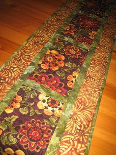 Quilted Table Runner Paisley Gold and Red by TahoeQuilts on Etsy, $60.00 #etsy #thehotbobbin