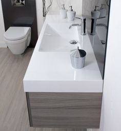 Like the straight lines of the sink. Loft Bathroom, Straight Lines, Wall Tiles, Tile Floor, Sink, Flooring, Shower, Design, Home Decor