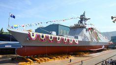 DSME launches South Korea's first FFX-II frigate