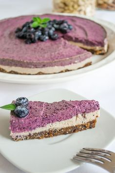 Cheesecake de Blueberries Vegano