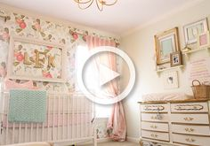 We are showcasing a sweet and feminine, soft pink nursery with a vintage touch on Project Nursery's YouTube Channel. #YouTube #roomtour #nurserydesign