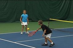 Each child will have a racquet and ball. Follow this sequence in order and young players will develop rally skills in just a few minutes.