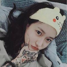 Asian Tattoo Girl, Asian Tattoos, Full Body Tattoo, Body Art Tattoos, Tattooed Women Full Body, Girls In Love, Cute Girls, Korean Girl, Asian Girl