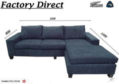 LOOK*$1099 New LILY 4 Seater Chaise Factory Direct | Trade Me