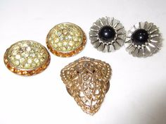 Vintage Costume Earrings and Scarf Clip Sarah C. / Coro / Lieba #Coro
