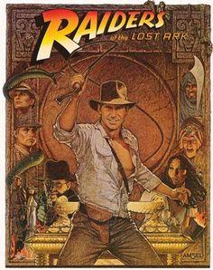 Indiana Jones - Raider of the Last Ark. Classic Movie Art style.