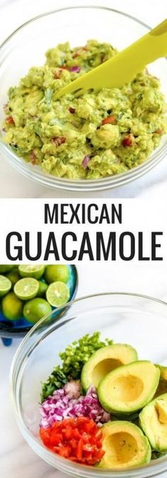 authentic mexican guacamole The avocados you use for this recipe should be perfectly ripe. Here's how to select the perfect avocado for guacamole: When a Haas avocado is under-ripe it is green in color and very firm Best Guacamole Recipe, Avocado Recipes, Authentic Guacamole Recipe, Authentic Mexican Tacos, Avocado Guacamole, Ceviche Recipe, Mexican Guacamole Recipe, Authentic Food, Homemade Guacamole