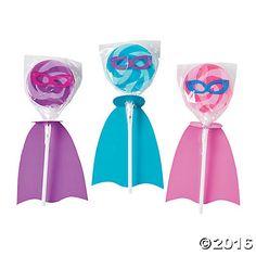 Superhero Girl Swirl Lollipop Set- Barbie Spy Squad Party Favor