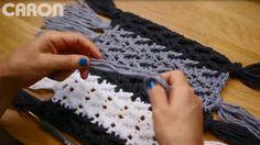 Arrowhead Striped Afghan crocheted in Caron United at Joann.com