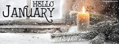 Hello January Facebook Cover coverlayout.com