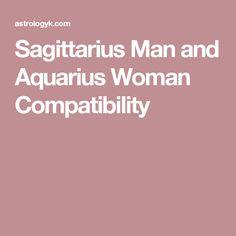 Sagittarius woman hookup an aquarius man