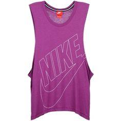 Nike Top ($26) ❤ liked on Polyvore featuring tops, sport, sport time, purple, sport jerseys, sports jerseys, nike, purple jersey and nike jerseys