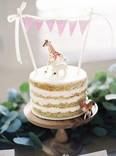 animal + bunting cake