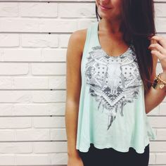 Relic #mint #tank #hunnistyle