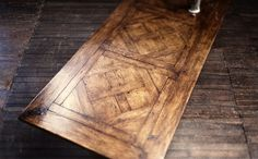 parquetry | Original Finish – Oak Parquetry Table