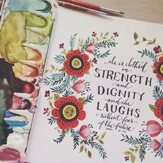 """She is clothed with strength and dignity, and she laughs without fear of the future."" (Proverbs 31:25)"