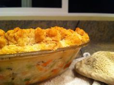 Pioneer Woman's Chicken Pot Pie.  This is how homemade pot pie should taste.  Just follow the recipe.