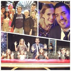 Jonathan Silver Scott with family on the last night of DWTS competition for twin brother Drew who did not win. November 2017