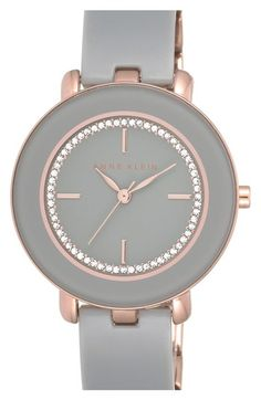 Anne Klein Crystal Dial Bangle Watch, 34mm available at #Nordstrom