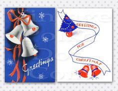 Vintage Grafische 1930 Christmas Bells Printable Digital Clipart.............................................lb xxx