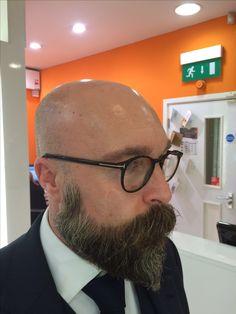 Shaved Head With Beard, Beard Head, Bald With Beard, Bald Boy, Mustache Men, Beard Lover, Awesome Beards, Beard Tattoo, Face Hair