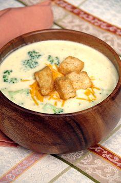 Easy broccoli cheese soup makes a delicious meatless monday recipe!