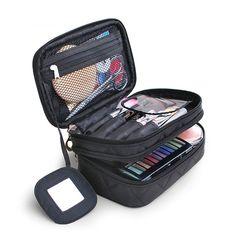 [ $13.56 ] Honana HN-B63 Large Double Layers Travel Cosmetic Bag Portable Makeup Organizer Toiletry Storage Bag http://adpgtrack.com/click/58d166548b30a8b21d8b4593/146388/subaccount/url=https%3A%2F%2Fwww.banggood.com%2FHonana-HN-B63-Large-Double-Layers-Travel-Cosmetic-Bag-Portable-Makeup-Organizer-Toiletry-Storage-Bag-p-1167555.html%3Frmmds%3DnewArrivals