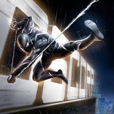 Black Suit Spider Man PS4 Concept, Pol Lerigoleur