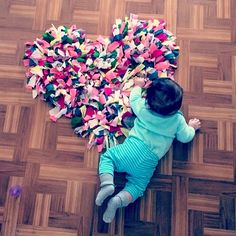 DIY Heart Rag Rug & Instagram Giveaways - Project Nursery
