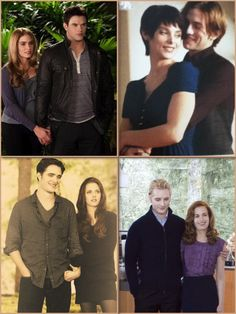 <3 Rosalie and emmet <3 <3 alice and jasper<3 <3 Bella and Edward<3 <3 Esme and carlisle<3 the cullens<3