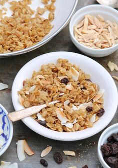 "We love the idea of this ""Not Mushy Oatmeal"" aka ""Chewy Granola"" from @FountainKitchen. By reducing the cooking liquid, your left with a chewy bowl of oats."