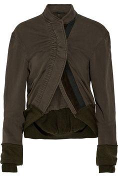 HAIDER ACKERMANN Paneled Cotton-Jersey Jacket. #haiderackermann #cloth #jacket