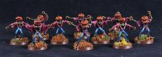 Chaos, Daemons, Halloween Army, Pink Horrors, Scarecrows, Warhammer 40,000