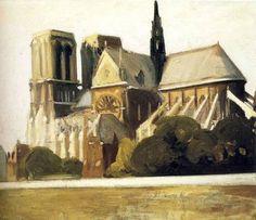 Edward Hopper, Notre Dame de Paris  -  1907 on ArtStack #edward-hopper #art